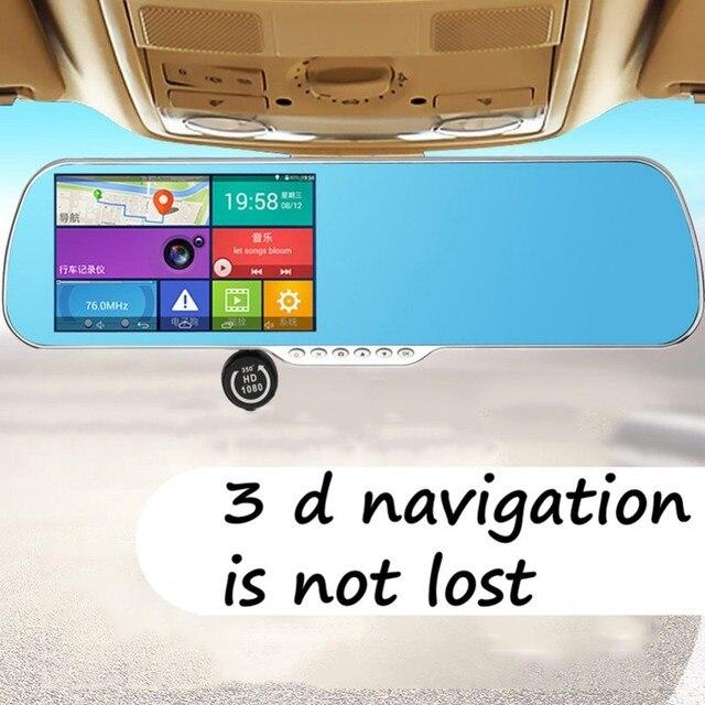 5 de polegada Carro DVR Detector de Radar GPS Mapa 3D Android retrovisor Bluetooth Monitor Anti reflexo do espelho 1080 P Câmera de Lente Dupla vídeo