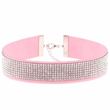 Harajuku Choker Necklace Women Crystal Choker 2018 PU Leather chocker gothic collar punk jewelry goth fashion accessories