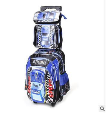 Trolley Luggage school rolling bag backpack with wheels Car style kids school trolley bag for boy Mochilas  Backpacks on Wheels