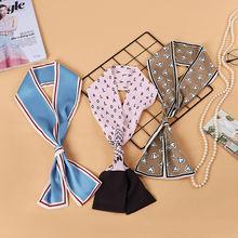 Весна 2019 новинка шелковые шарфы с шифоновым принтом корейский