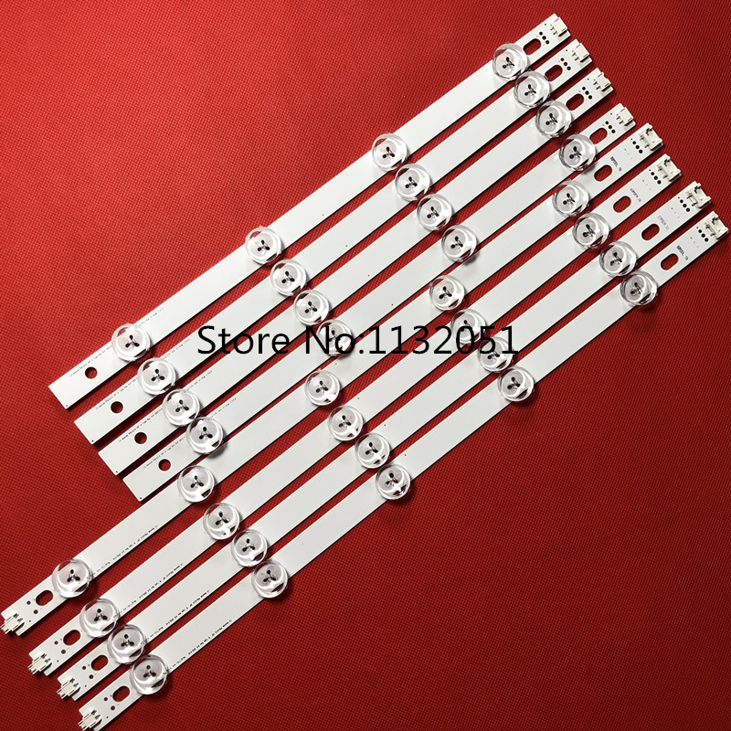 100%New 8 PCS/set LED Backlight Strip For LG 39 Inch TV 39LN5300 39LN5400 HC390DUN-VCFP1-21XX Innotek POLA2.0 39