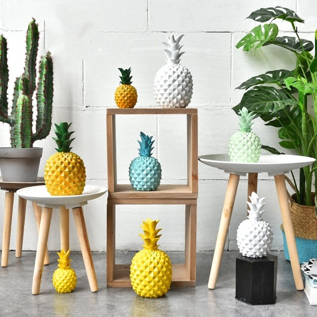 1 Piece Home Decor Pineapple Figure Christmas Office Desk Decoration     1 Piece Home Decor Pineapple Figure Christmas Office Desk Decoration  Birthday Gift Fruit Modeling Figure for