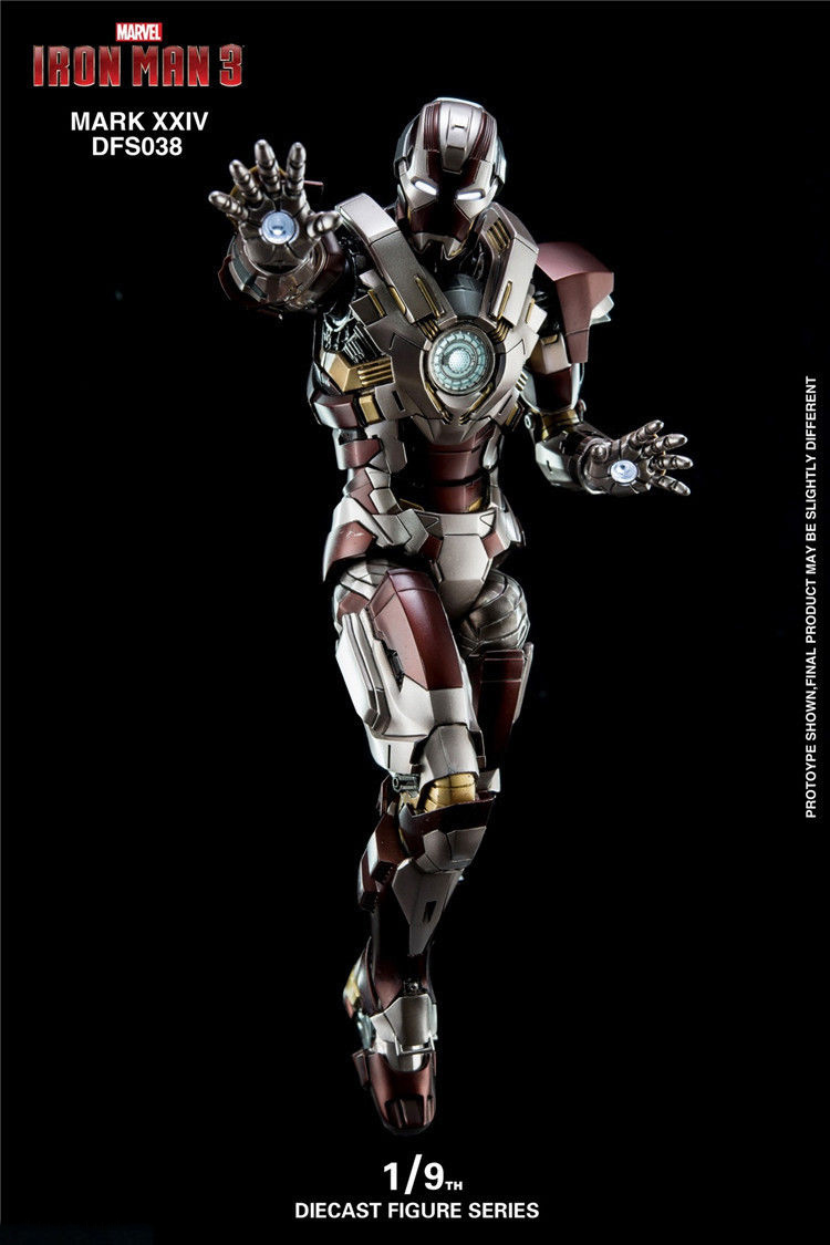 1//9 King Arts DFS038 Diecast Iron Man MK24 Tank Action Figure Model Collection