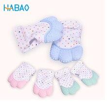 Baby Care Silicone Teether Molar Gloves Sound Baby Teether Pacifier Glove Baby Teething Chewable Newborn Nursing Mittens Infant