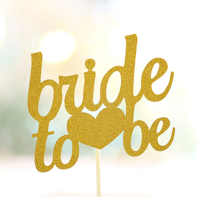 Online Shop bride to be Cake Topper Cupcakes Cake flags Bridal ...