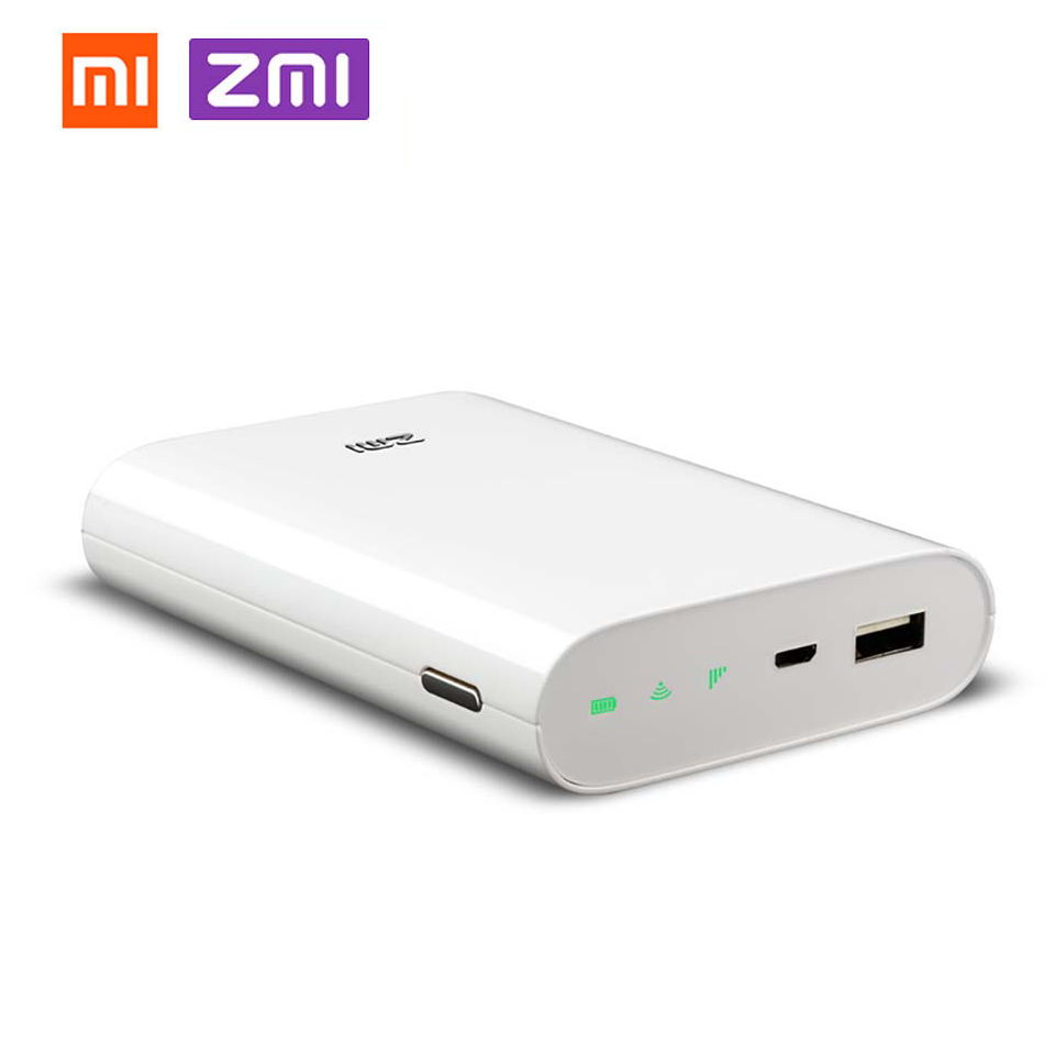 Xiaomi ZMI 4G Wifi Router 7800 mAh MF855 Power Bank 3G 4G Wireless Wifi Repeater Wifi Router Mobile Hotspot 7800mAh Power Bank стоимость