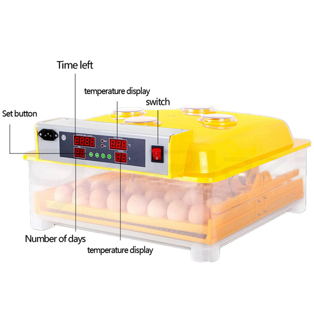 Automatic Intelligent Digital 48 Egg Incubator Hatcher Large Capacity Incubators For Chicken Poultry Eggs Home Use Cheap Price 1