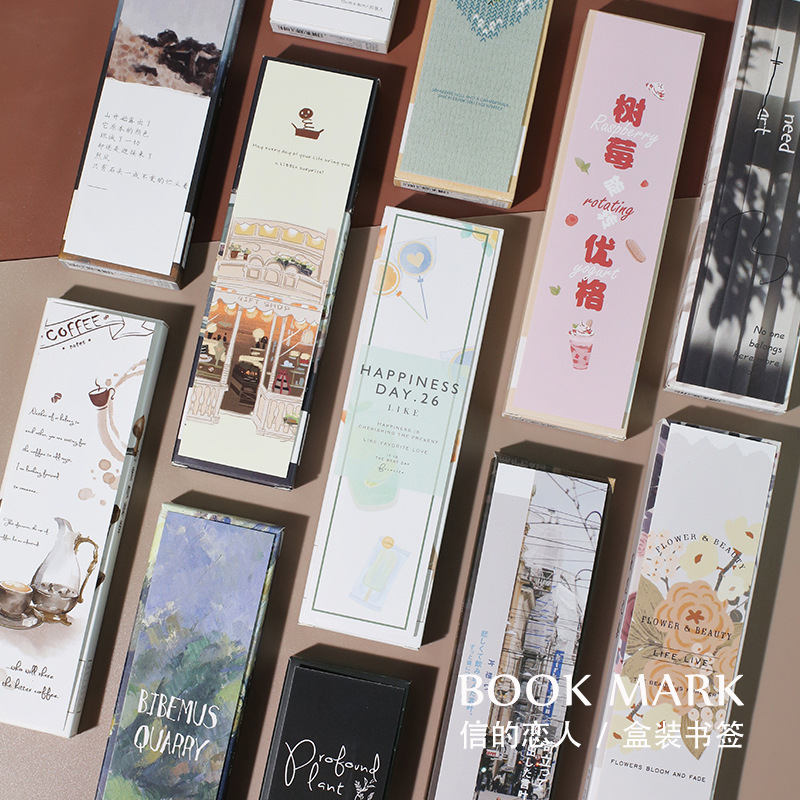 30pcs / 1lot Cartoon Coffee Forest Milk Tea Paper Bookmarks Message Cards Bookmark For Books/Share/book Markers/stationery