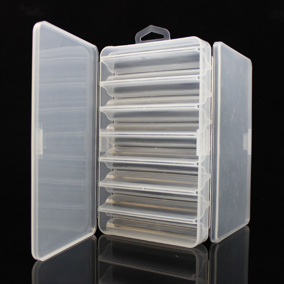 19.5*11.5*3.6cm Fishing Box for Baits Double Sided Plastic Lure Boxes Fly Fishing Tackle Storage Box Supplies Accessories