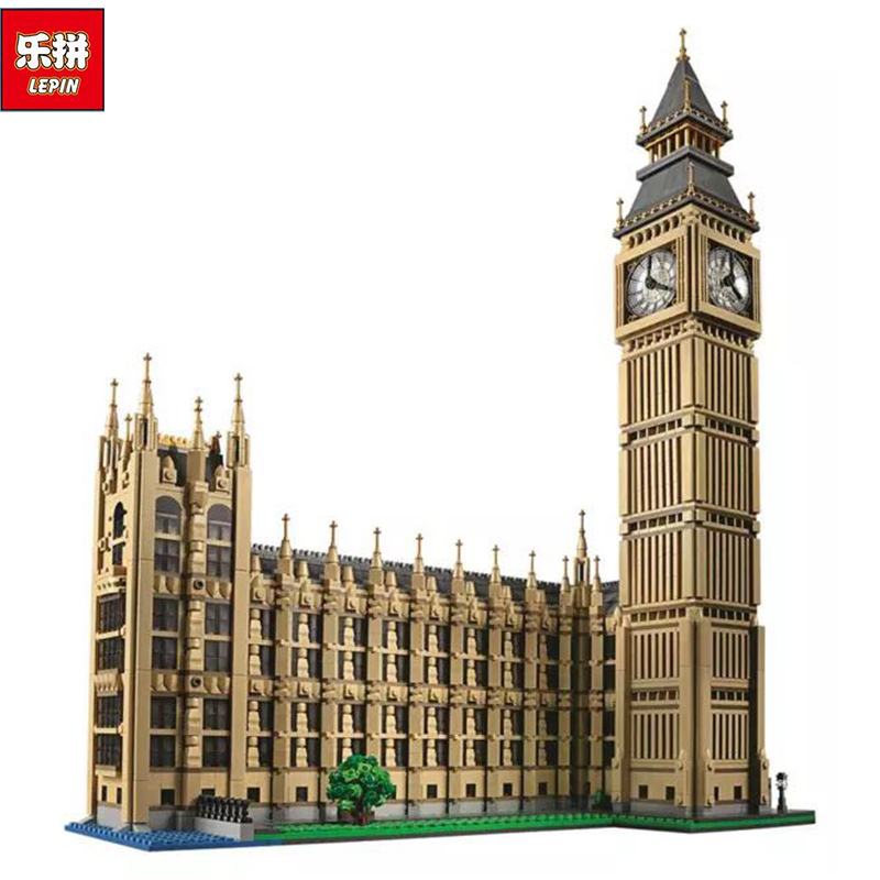 New LEPIN 17005 4163pcs Big Ben Elizabeth Tower Model Building Kits Brick Toys Compatible10253 Gift new lepin 22001 pirate ship imperial warships model building kits block briks toys gift 1717pcs