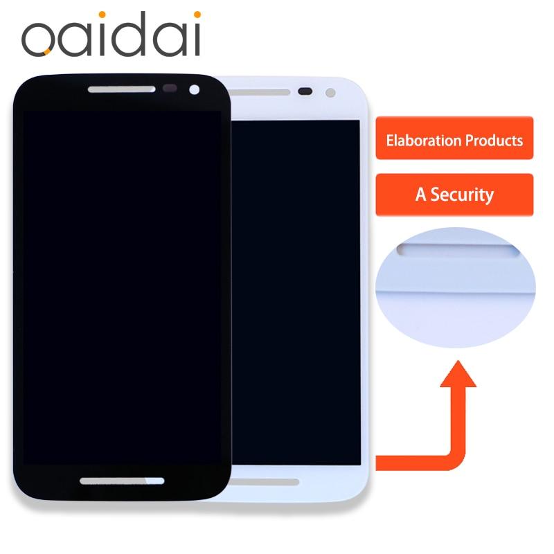 Per Motorola moto G3 Display LCD Touch Screen Per Xt1540 XT1541 Xt1543 Xt1544 Xt1550 Del Telefono Digitizer Assembly Parti di Ricambio