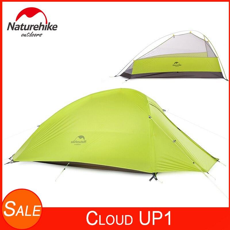 Naturehike CloudUp Serie Ultraleicht Rucksack Zelt Wasserdichte 20D/210T Stoff Camping Zelte Für 1 Person Mit Boden Matte