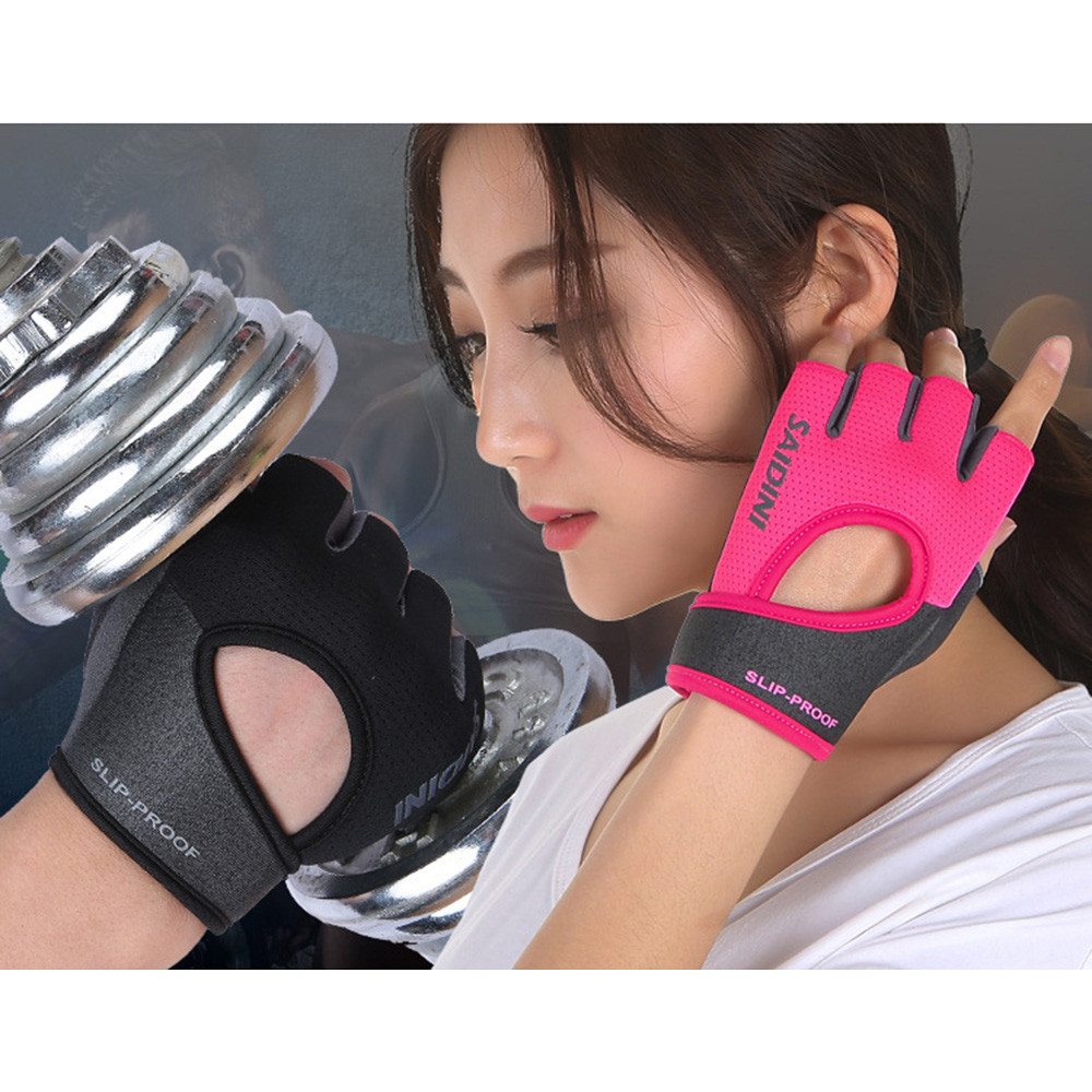 Women's  Fitness Fingerless Gloves Weight Lifting Gym Training Sports Bicycle Tactical racing Half Finger Gloves