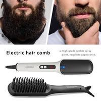 Men's Beard Hair Straighteners Electric Hair Straightening Brush Hair Straightener Comb Girls Ladies Wet & Dry Hair Care Styling