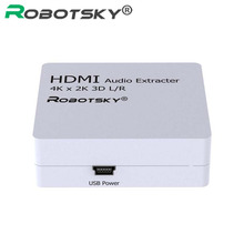 HDMI Audio Extractor Support 4K*2K 3D Converter HDMI to HDMI with Audio L/R Adapter for Xiaomi Box PS4 DVD TV Notebook to HDTV