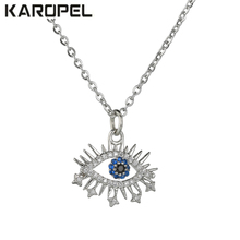 2019 New Lucky Evil Eye Jewelry Gold Color AAA Cubic Zirconia CZ Stone Fashion Classic Necklace Gift
