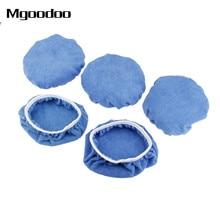 5Pcs Car Polish Pad Bonnet Soft Microfiber Polishing Bonnet Buffing Pad Cover For Car Polisher Waxing Paint Care 5-6