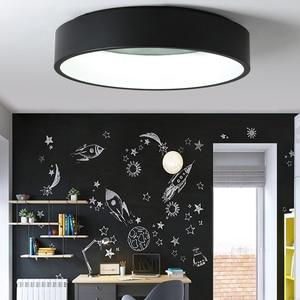 Image 2 - Black/white/Gray Minimalism Modern LED ceiling lights for living room bed room lamparas de techo LED Ceiling Lamp light fixtures