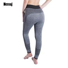 35537d5770caf Nessaj женские сексуальные укороченные Леггинсы с высокой талией эластичные  узкие брюки 34 C сила упражнения женские