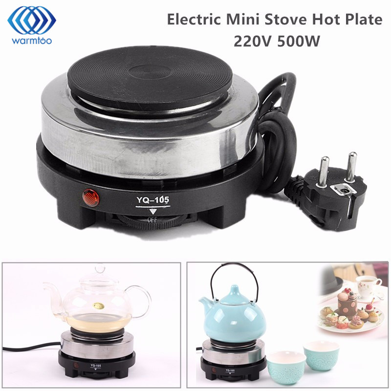 Electric Stove Hot Plate Mini Cooking Plate Multifunction Coffee Tea Heater Home Appliance Hot Plates for Kitchen 220V 500W stainless steel electric double ceramic stove hot plate heater multi cooking cooker appliances for kitchen 220 240v vde plug