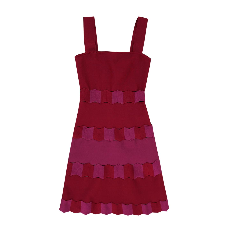 Robe Mode De Mariage Bandage Printemps Red Femmes Célébration Nouvelle Patchwork Backless Sexy Partie HBqaqdwxn4