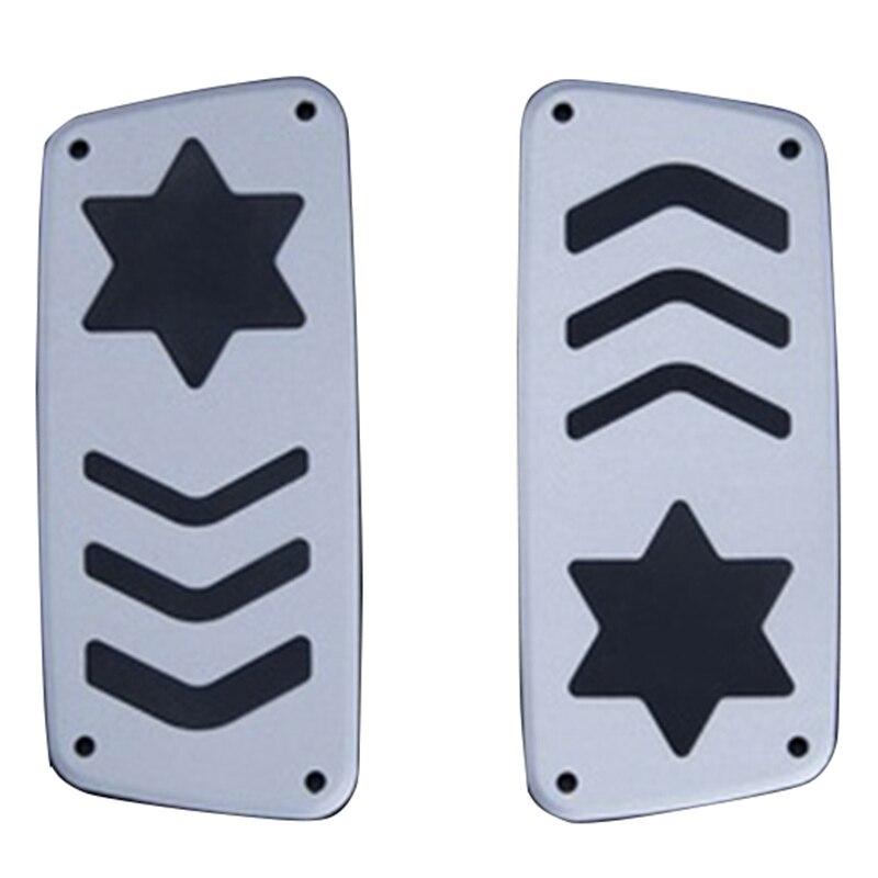 2 pièces Kart pédale modifié accessoires anti-dérapant accélérateur frein pédale aluminium/Karting/pied pédale contrôle de vitesse Conv