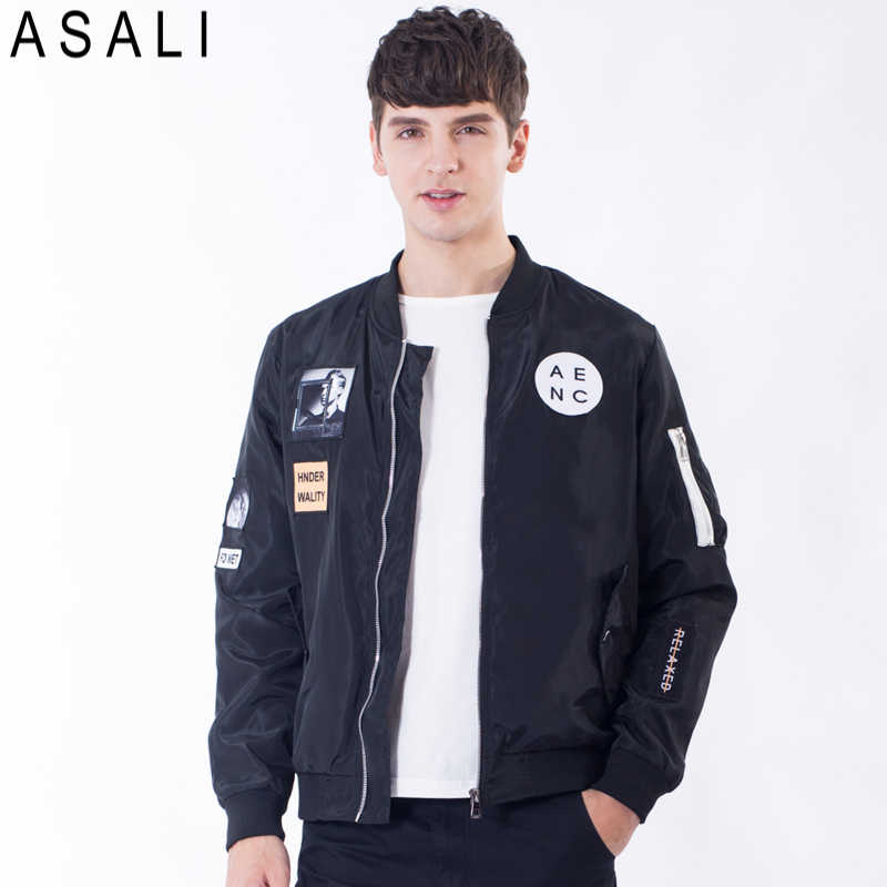 fe24a927 Для мужчин; ветровки 2018 Новый Для Мужчин's Курточка бомбер пальто с  принтом букв Emboridary Для