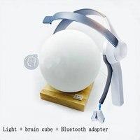 Atenção relaxamento feedback onda cerebral mindwave bluetooth cérebro cubo periférico vidro lâmpada forma pode ser personalizado|Peças p ar condicionado| |  -