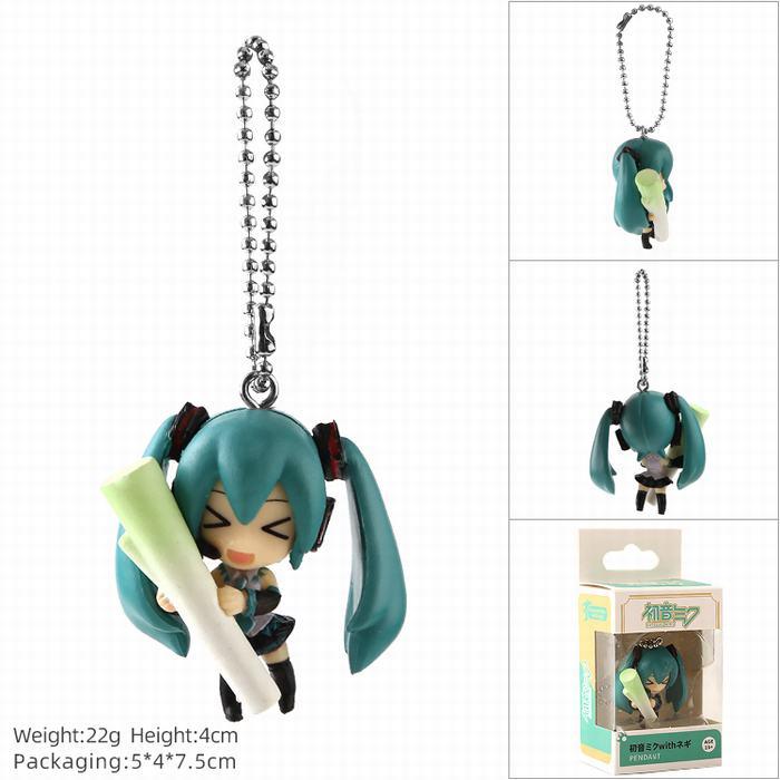 Anime VOCALOID Hatsune Miku Action Figure Mini Model Doll Keychain Snow Miku Kagamine Rin Len MEIKO Toys Pendant 4cm