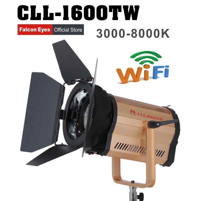 Falcon Eyes CLL-1600TW Fresnel Light 160W WIFI video light photography lighting studio led light for film Advertisement shooting аксессуар falcon eyes dea bhc 160 180mm