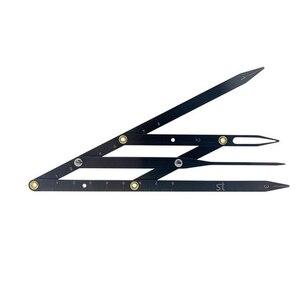 Image 4 - 1pc גבות שליט זהב יחס Caliper Microblading אביזרי גבות שבלונות קעקוע Meaure כלים איפור הקבוע