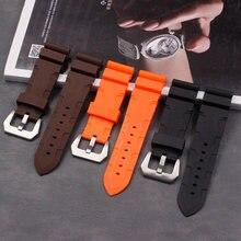 Мужской силиконовый ремешок для часов panerai 24 мм 26 спорта