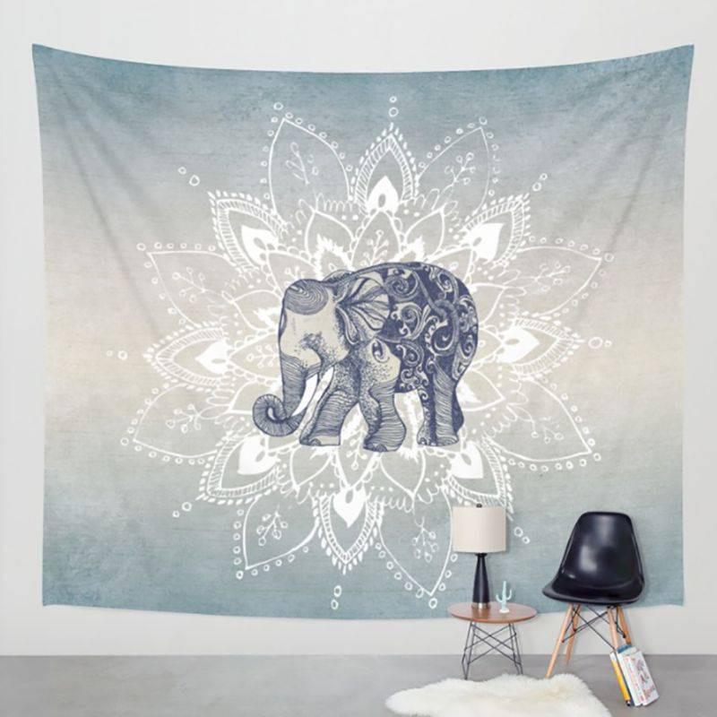 1 PS Bohemia Mandala mantas tapicería elefante pared colgante wandbehang gobelin manta decoración del hogar mantas mandalas