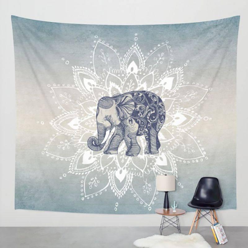 1 pz Boemia Mandala Coperte Arazzo Elefante Appeso A Parete wandbehang gobelin Coperta Dormitorio Complementi Arredo Casa mantas mandalas
