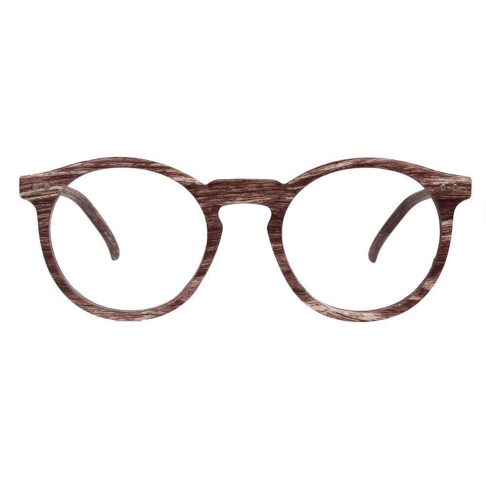 7329fa8f970 Detail Feedback Questions about Agstum Clear Lens Round Retro Wood Color  Glasses Myopia Frame Vintage Optical on Aliexpress.com