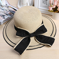 summer style Women's Sun Hat Fashion Foldable Straw Hats Fashion Women Beach Headwear Casual Ladies bowknot hat For Girls 1869