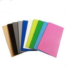 16*32 Dots Small Blocks Base Plate 1pcs Minifigures Building Blocks DIY Baseplate Compatible with Legoe Blocks