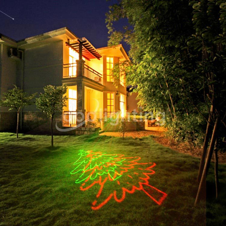 Christmas red and green laser waterproof lawn lamp landscape Christmas lights a christmas carol and other christmas writings