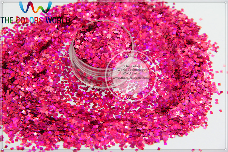 LM-92 Size 2 mm laser holographic Plum  color Glitter paillette Square shape spangles for Nail Art  DIY supplies1pack=50g holographic marquise nail flakies sequins multicolor diy glitter paillette manicure nail art decoration