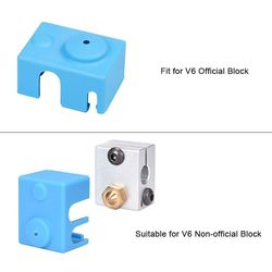 3D Printer Parts V6 Silicone Sock Fit to V6 Heated Block J-head Hotend 1.75/3.0mm Bowden/Direct Extruder Heater Block Reprap