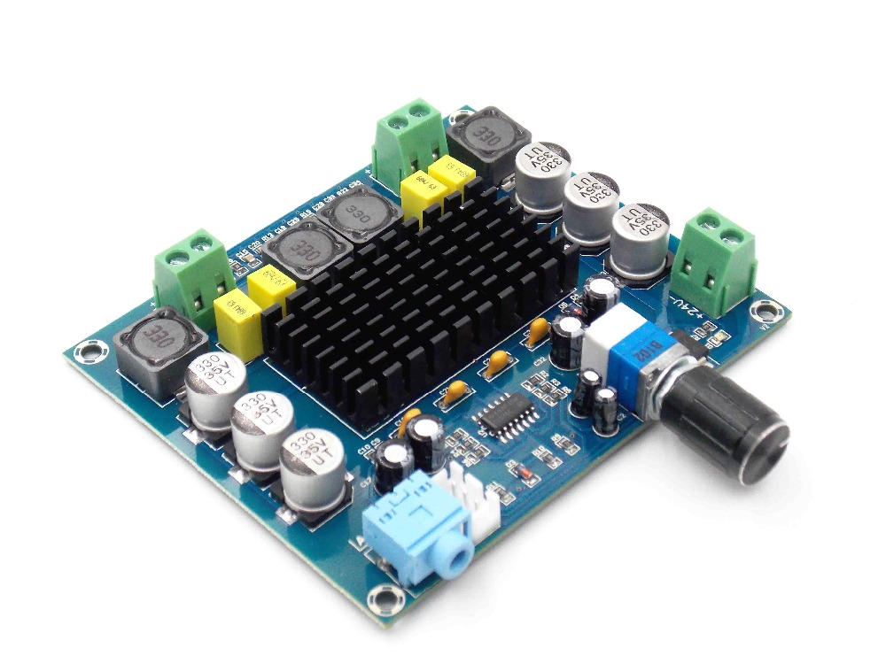 XH-M547 dual channel 120W upgraded version of digital power amplifier board TPA3116D2 digital audio amplifier boardXH-M547 dual channel 120W upgraded version of digital power amplifier board TPA3116D2 digital audio amplifier board