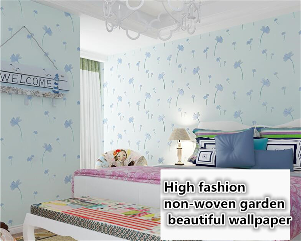 beibehang Idyllic romantic non-woven classic 3D stereo wallpaper bedroom living room background wall wallpaper for walls 3 d beibehang wall paper pune girl room cartoon children s room bedroom shop for environmental non woven wallpaper ocean mermaid