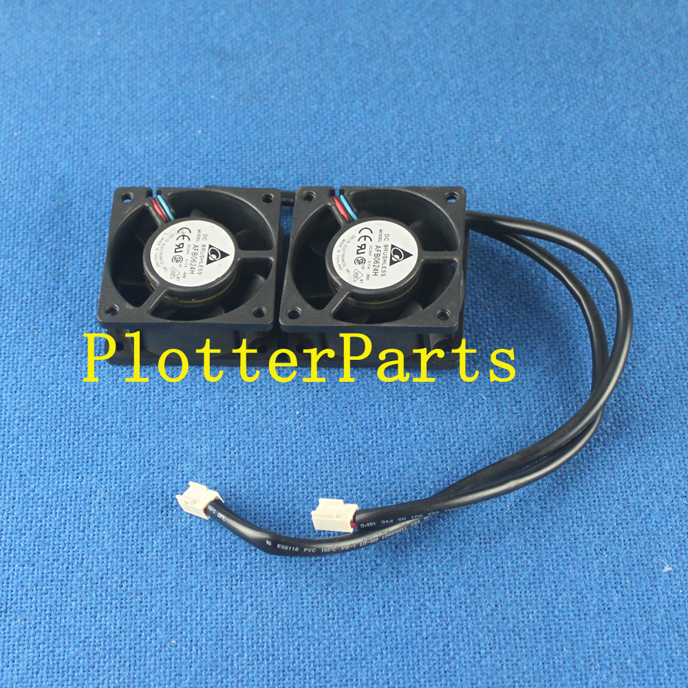 Q1251-60279 Q1251-60123 Cooling Fan Plotter Part for HP DesignJet 5000 5000PS 5100 5500 5500UV q1251 60252 c6090 60041 hp designjet 5000 5100 5500 ink supply station iss pc board original used