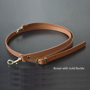 135CM Adjustable Leather Strap Handbag Shoulder Bag Belts Handmade Replacement Gold Buckle Parts Accessories for Girl Tan