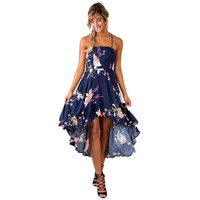 2017 Hot Sale Bohemian New Fashion Beach Dress Women Vestido Strapless Summer Dress Plus Size Sexy