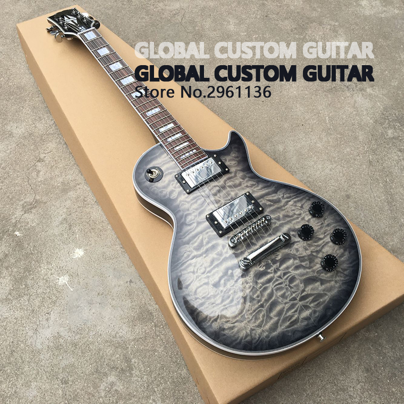 цены  NEW Arrival LP Custom Electric Guitar,soot Burst color,Real photos,free shipping,Promotional activities