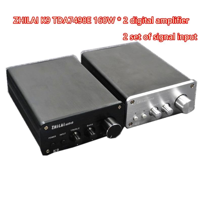bilder für TDA7498E BTL Class-d Verstärker 320 watt Hohe Ausgangsleistung und Low Ton Einstellen 2 gruppen von signal eingänge ZHILAI K9