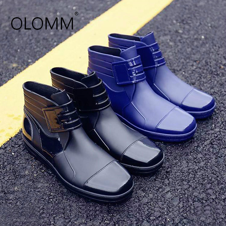 Short Rain Boots Men's Non-slip Waterproof Shoes Rubber Shoes Fashion Zapatos De Hombre  Men Boots