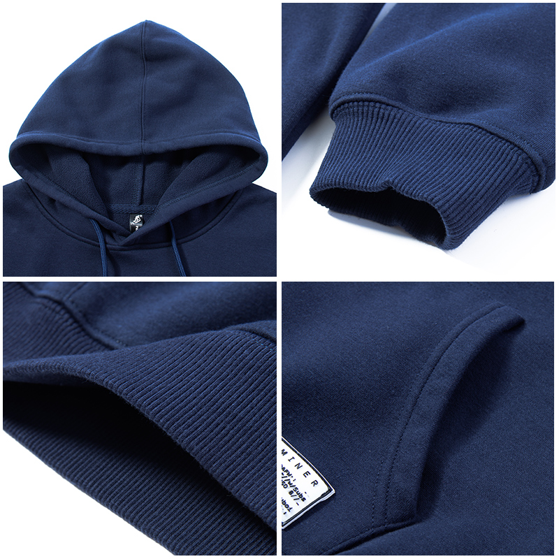 Pioneer Camp Thick Warm Men Hoodies Brand Clothing Autumn Winter Fleece Hooded Sweatshirts Male Quality 100% Cotton AWY802354