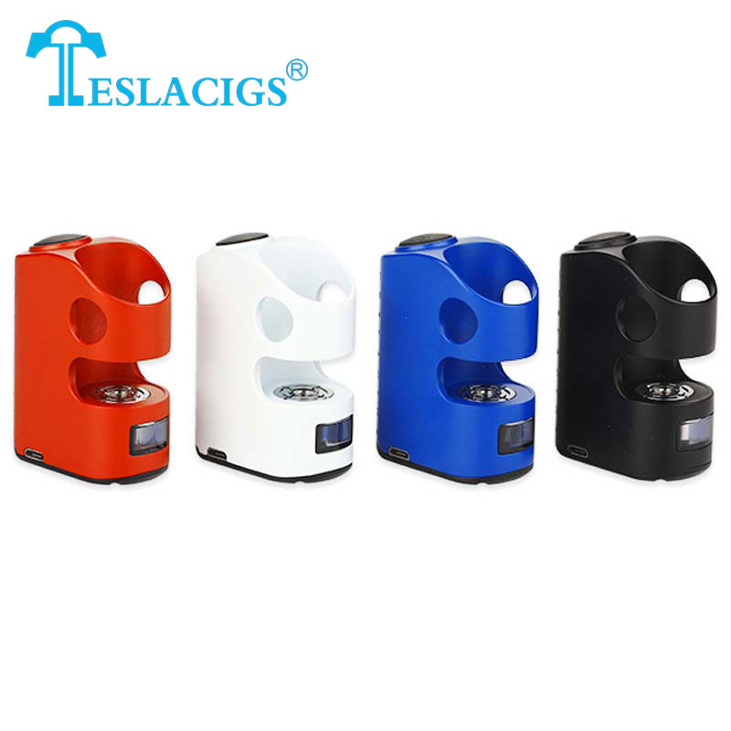 Original Teslacigs Stealth 40W TC Box MOD Built-in LiPo Battery1300mAh for VW/TC-Ti/TC-Ni/TC-SS/BYPASS Mode 510 Thread 40w Tesla